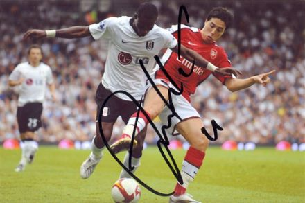 John Pantsil, Fulham, Ghana, signed 6x4 inch photo.